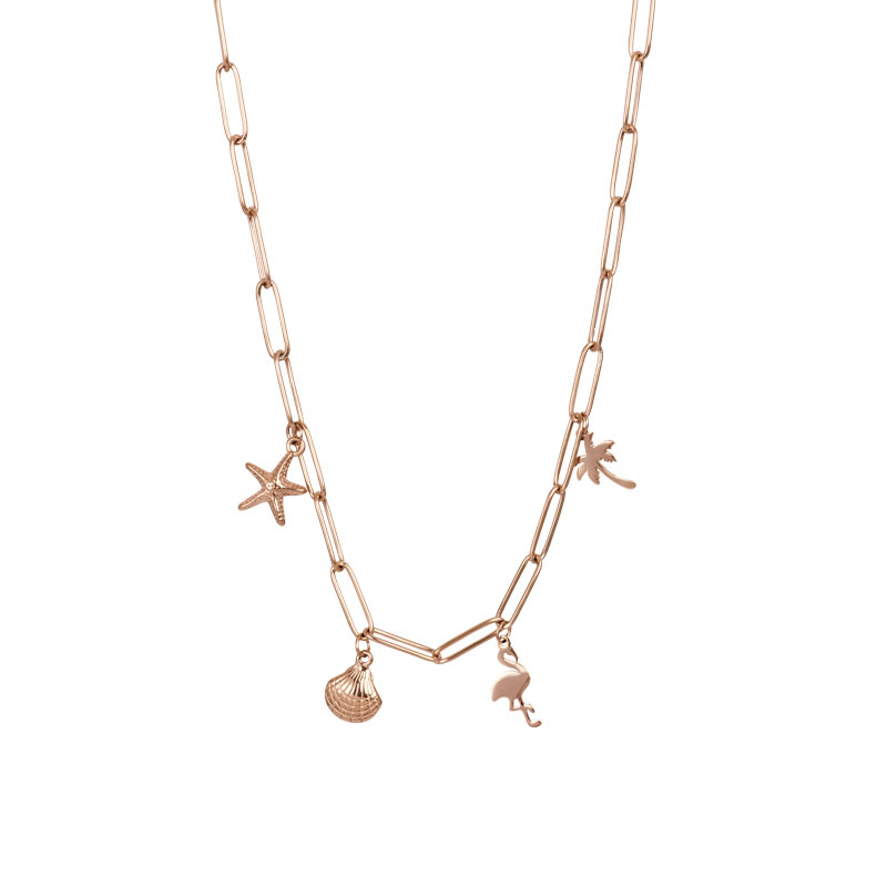 IXXXI ketting with charms rosé