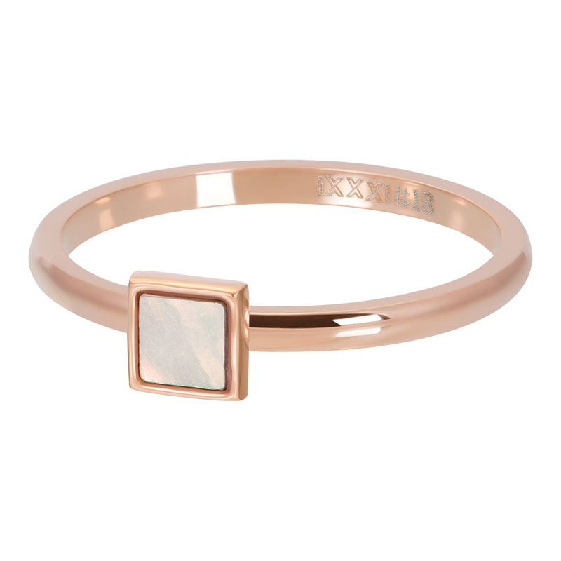 IXXXI ring pink shell stone square rosé