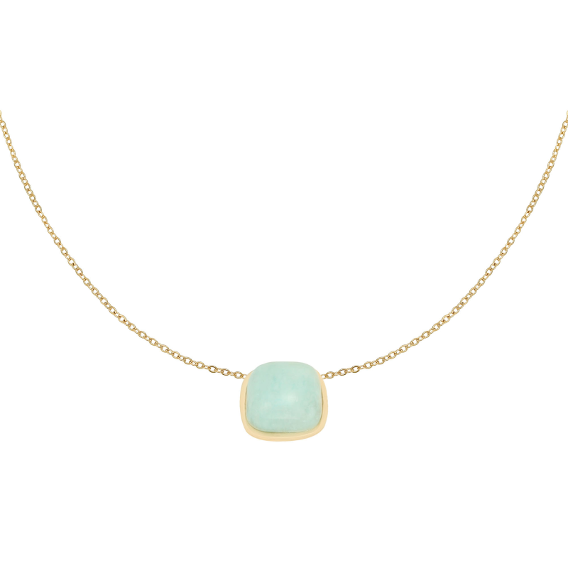 Yehwang ketting In Nature goud/turquoise