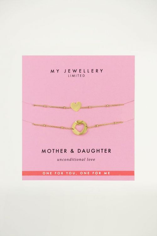 My jewellery armband Mother & Daughter Heart goud