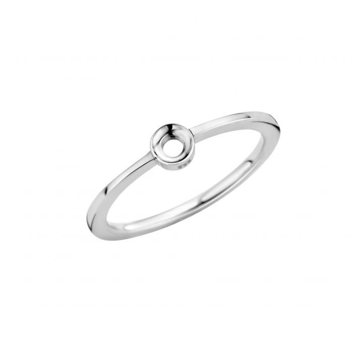 Melano ring twisted petite zilver