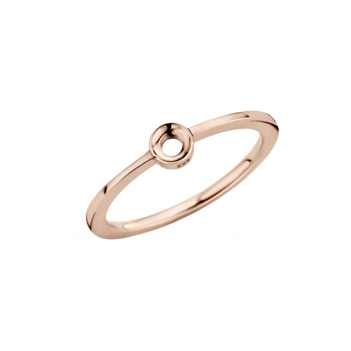 Melano ring twisted petite rose