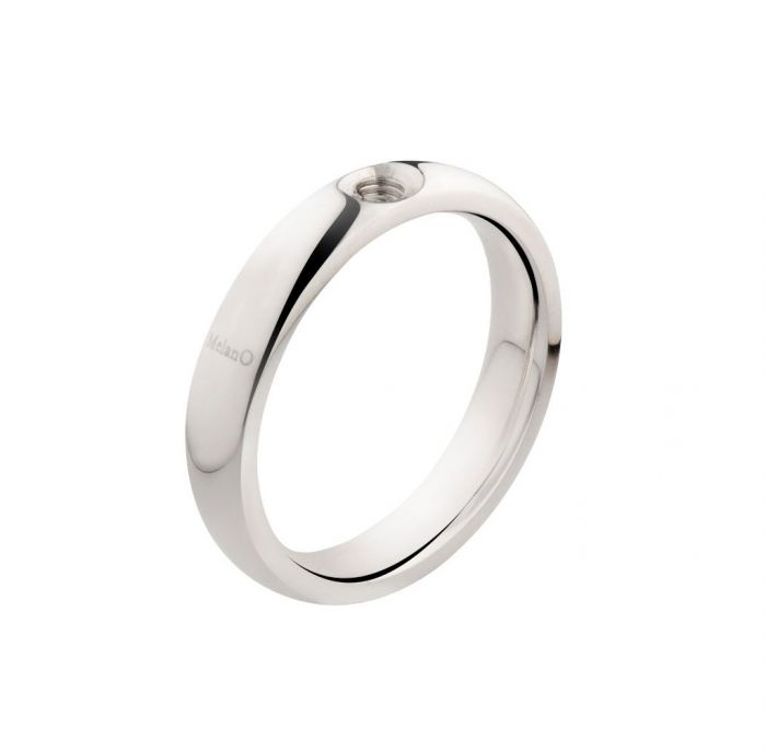 Melano ring twisted tracy zilver