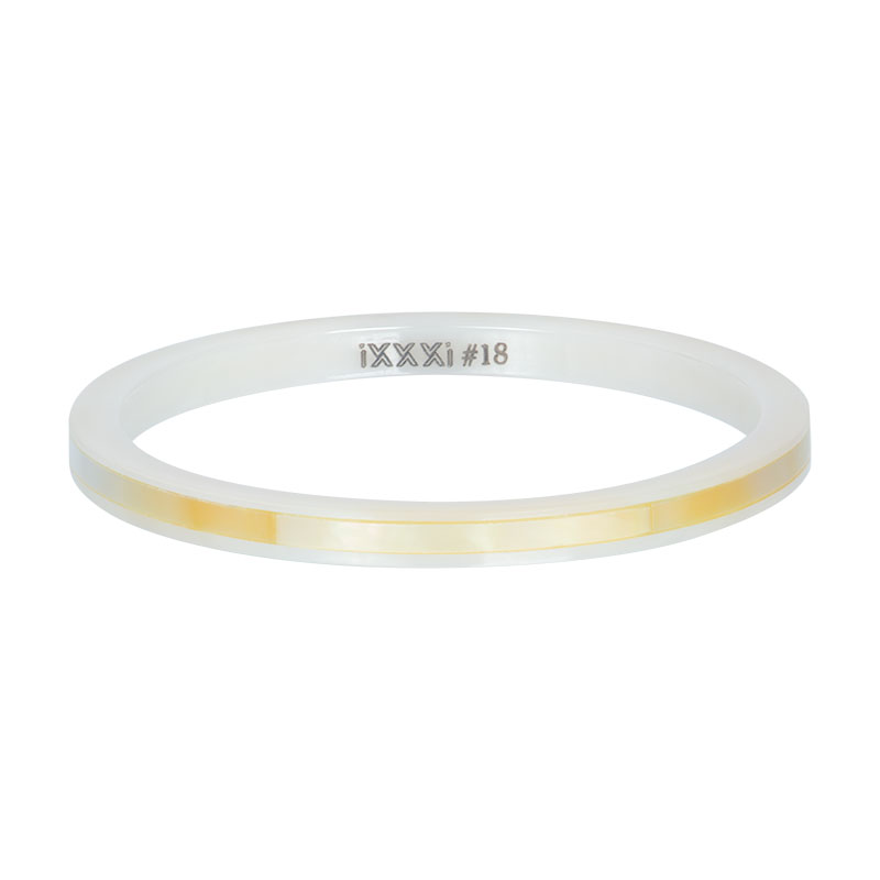 iXXXi ring 2mm Ceramic yellow shell R03304-06