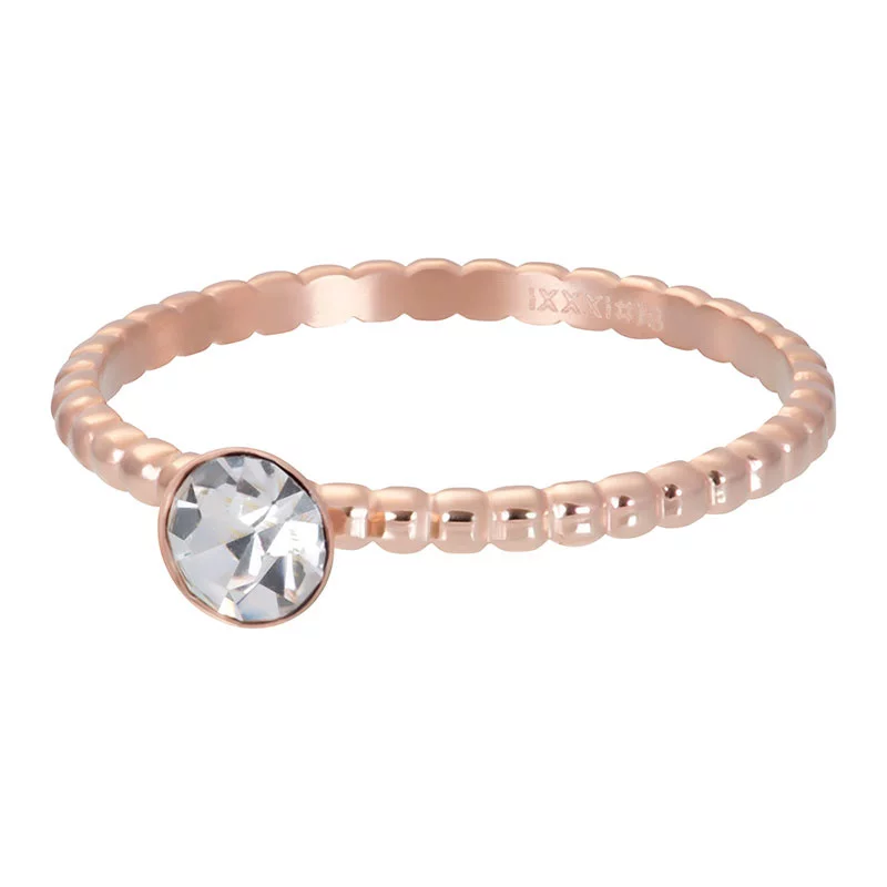 iXXXi 2mm Jewelry Vulring Ball With Crystal Stone Rosé