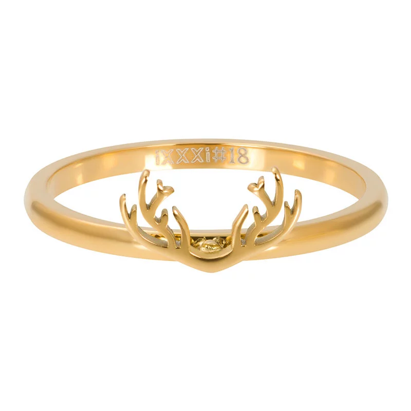 iXXXi Ring Symbol Antlers Gold Color - R03506-01