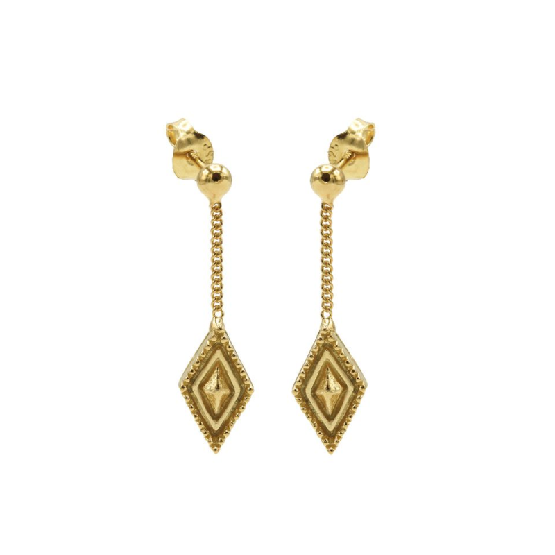 Karma Chainstuds Dots Line Diamond Goldplated