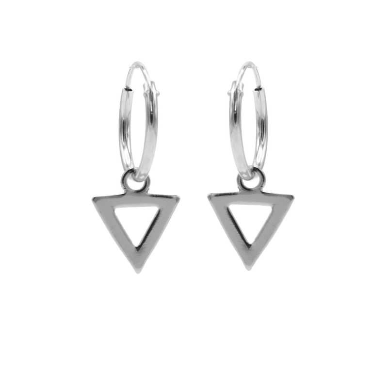 Karma Hoops Symbols Open Triangle Silver