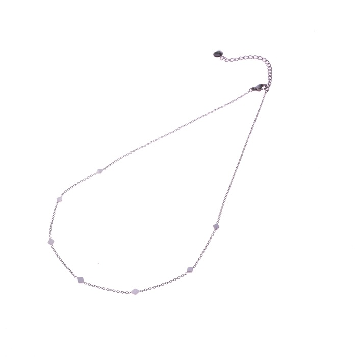 Go dutch label ketting diamonds all over zilver N0481-1