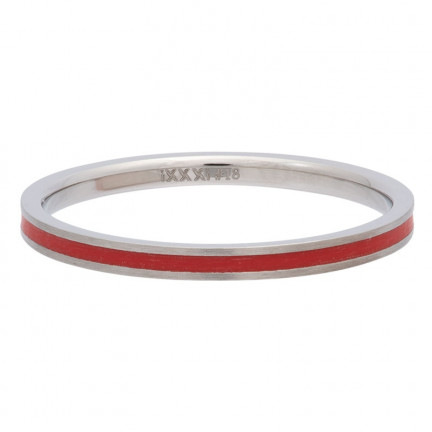 iXXXi Ring Line Red - R02307-04