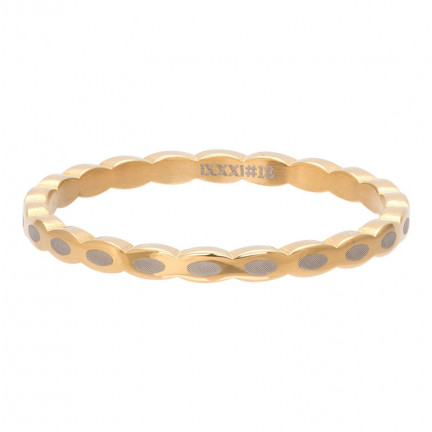iXXXi Ring Oval Shape Gold Color - R02815-01