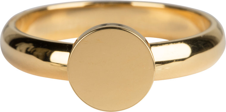 Charmins ring pudgy seal ring round gold