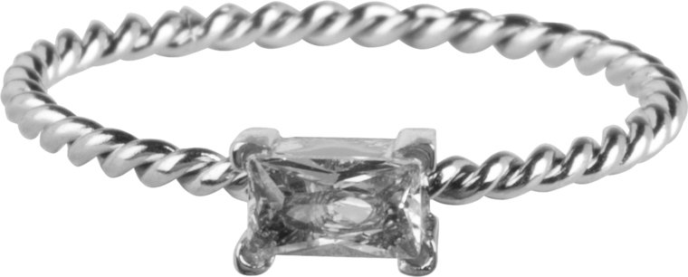 Charmins ring twisted queen crystal steel