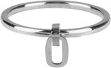 Charmins ring dangling oval steel