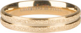 Charmins ring double sanded gold