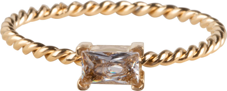 Charmins ring twisted queen crystal gold