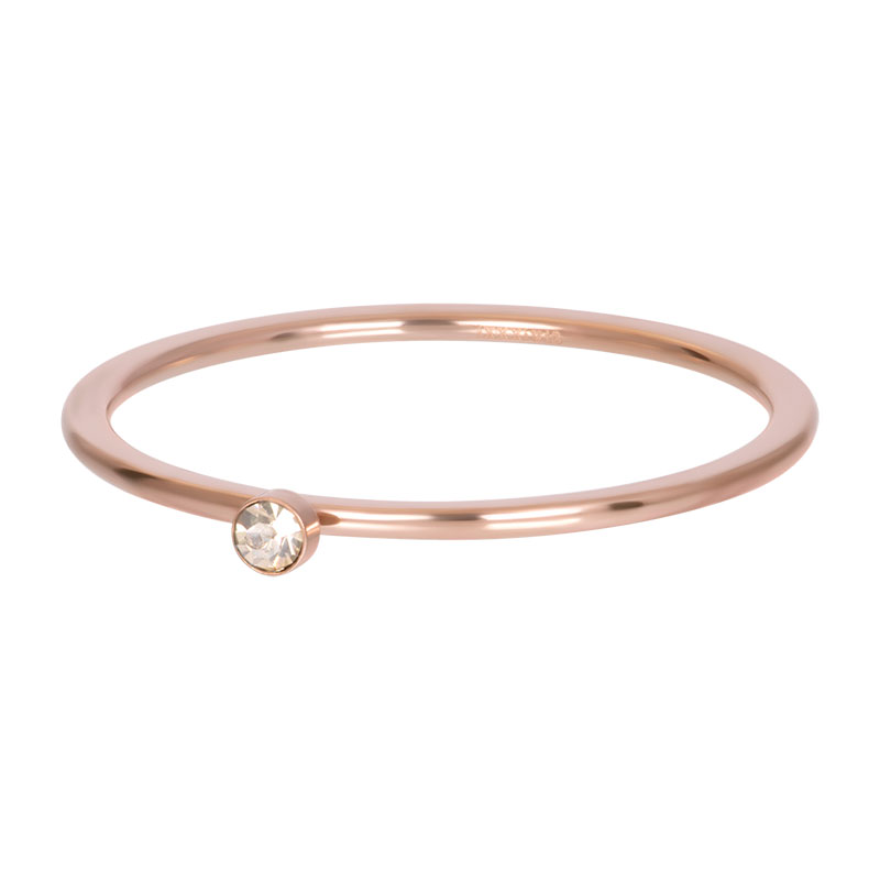 iXXXi ring 1mm blond flare 1 stone crystal rosé R03907-02