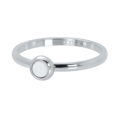 iXXXi ring 2mm bright white zilver R04108-03