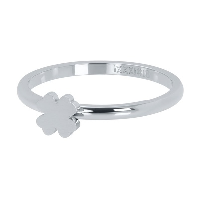 iXXXi ring 2mm symbol clover zilver R03502-03