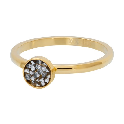 iXXXi ring 2mm cup stones goud R04202-01