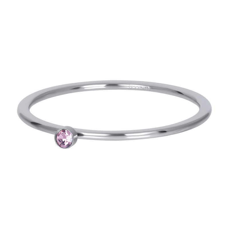 iXXXi ring 1mm Pink 1 stone crystal R03908-03