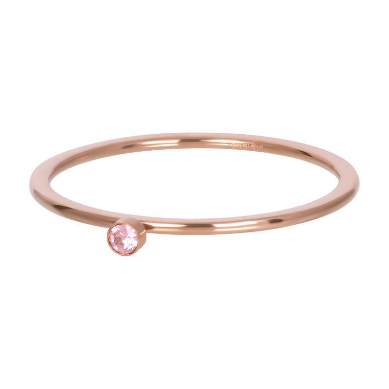 iXXXi ring 1mm Pink 1 stone crystal R03908-02