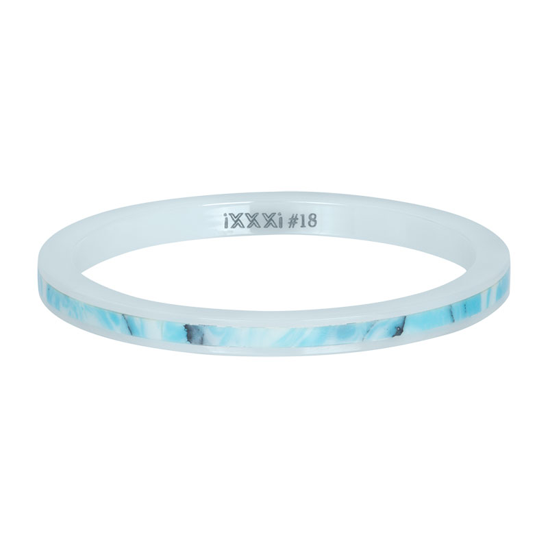 iXXXi ring 2mm Ceramic blue paradise R03312-06