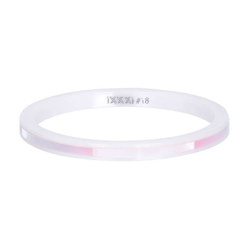 iXXXi ring 2mm Ceramic pink shell R03305-06