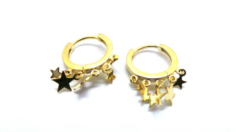 A lot of stars hoops -   Gold