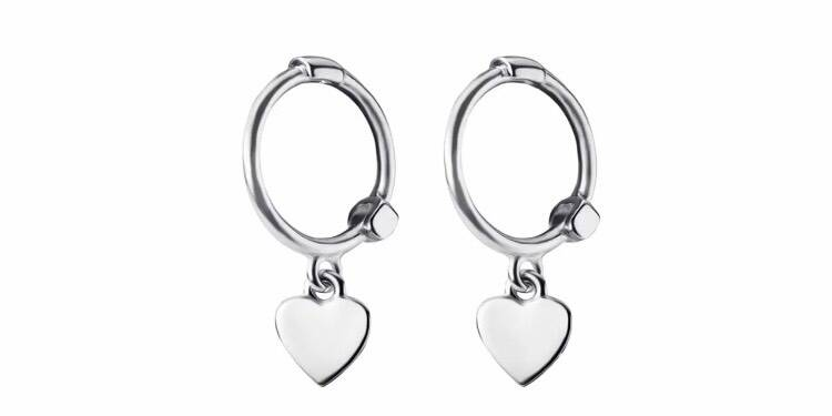 Small earring with heart - Silver