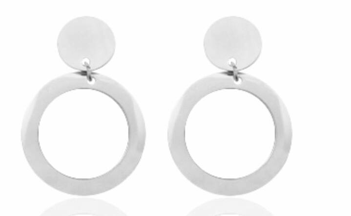 Round hoops earring - Silver