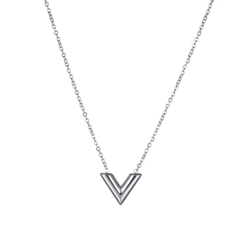 V shape necklace - Silver