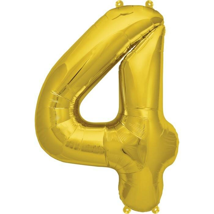 Number 4 foil balloon