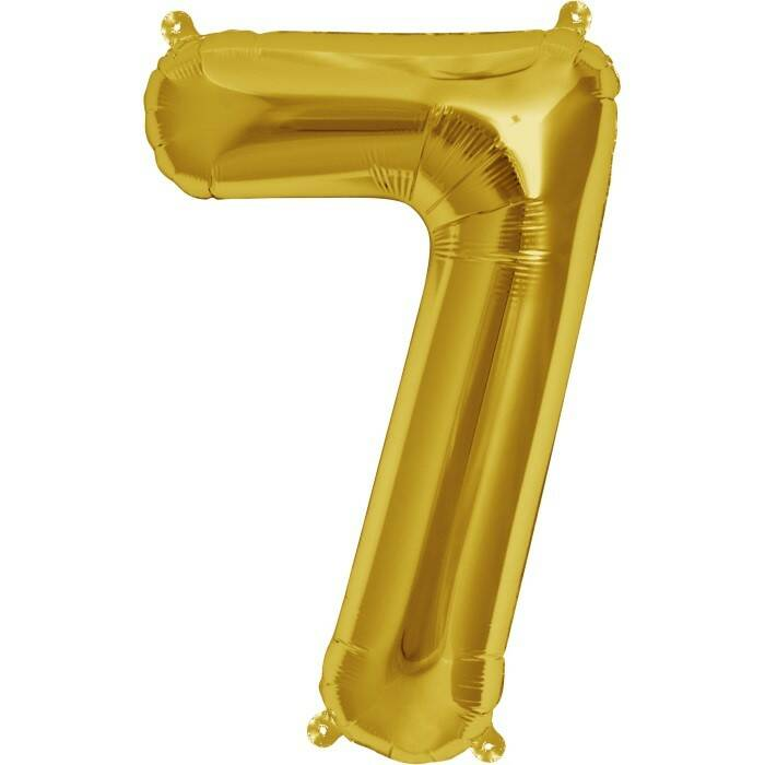 Number 7 foil balloon