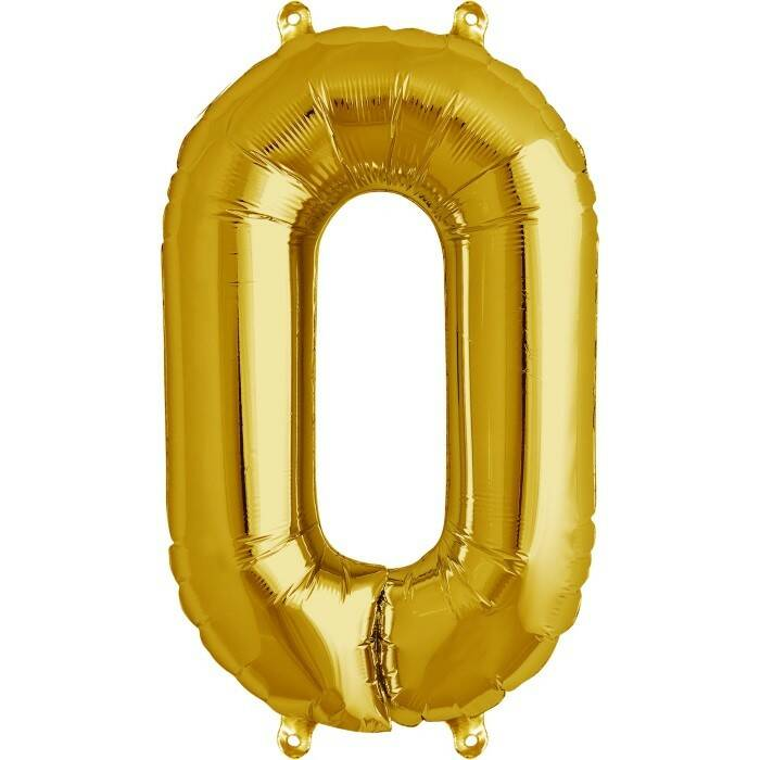 Number 0 foil balloon