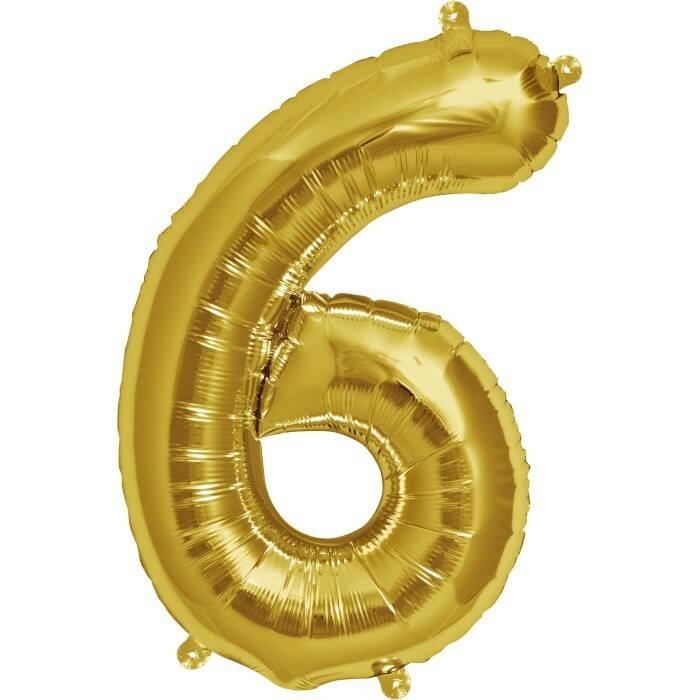Number 6 foil balloon