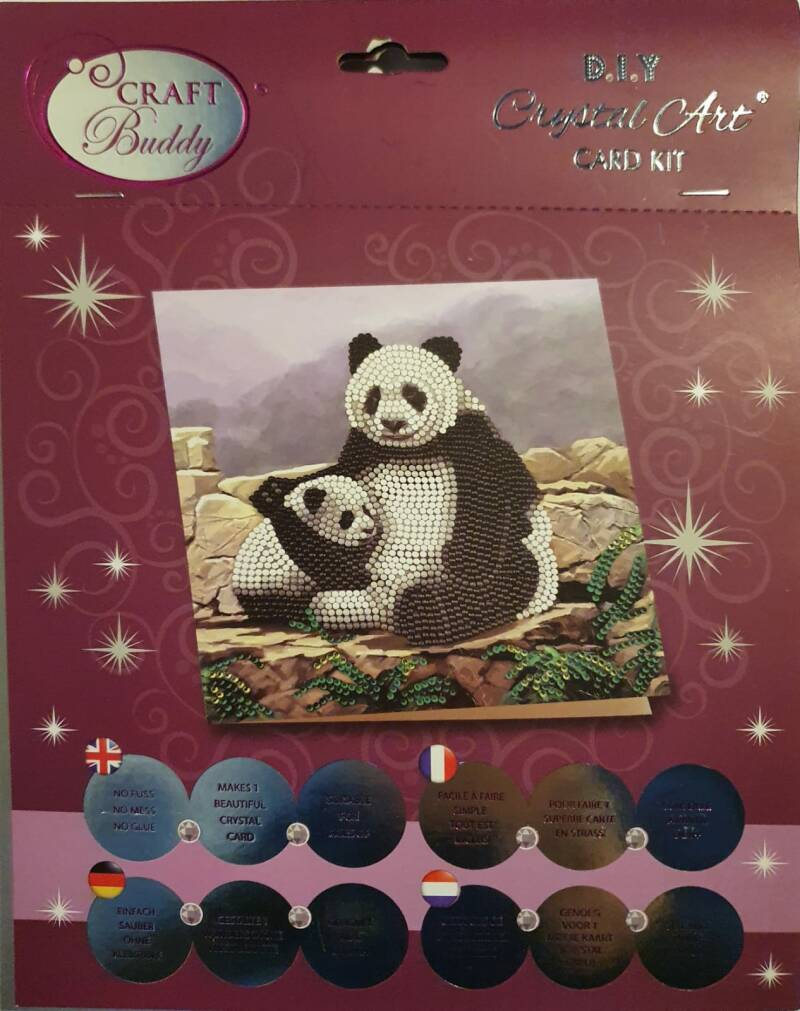 Diamond Painting Panda's (Kaart)