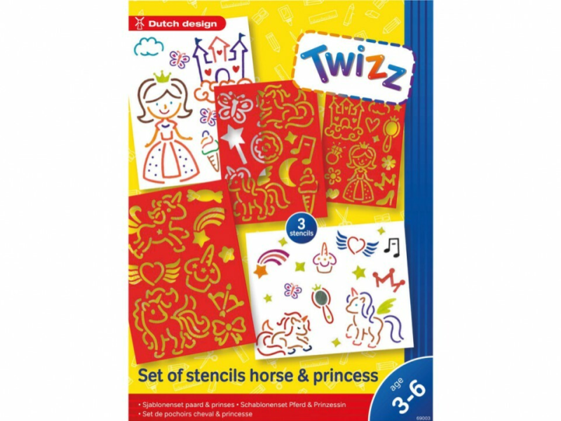Twizz Sjablonenset Prinses