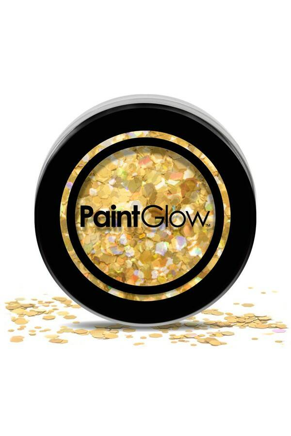 PaintGlow Chunky glitter - Gold Digger 3g