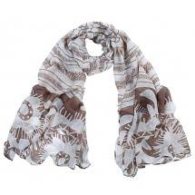 Sjaal 0153 Brown/White