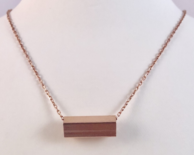 Staaf ketting, rosé