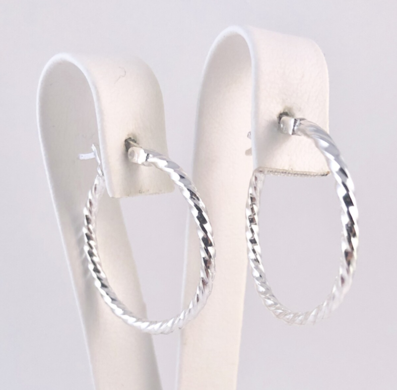 Medium hoops, zilver