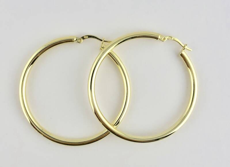 Large hoops, goud