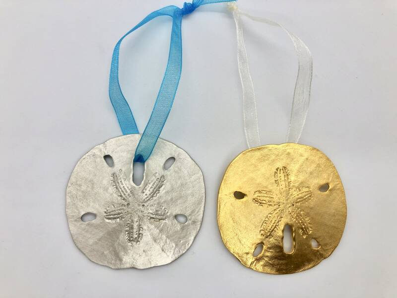 Pewter or Gold Plate Sand Dollar