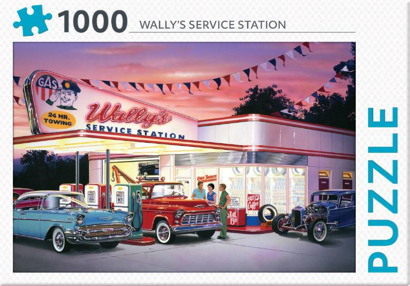 Puzzel 1000 stukjes - Wally's service station