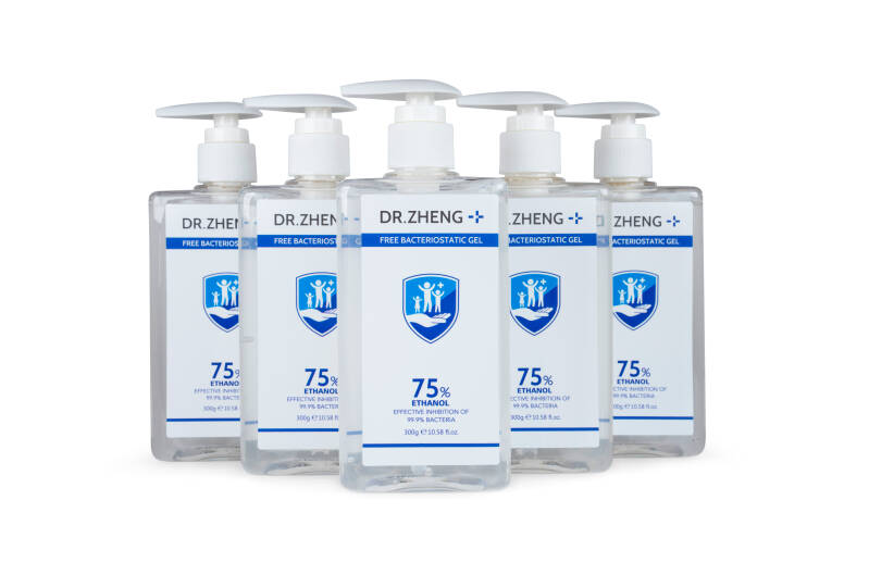 Handgel sanitizer 75% 300ML (Per  5 verpakt)