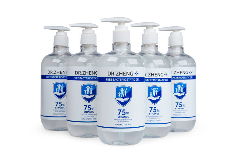 Handgel sanitizer 75% 500ML (Per 5 verpakt)
