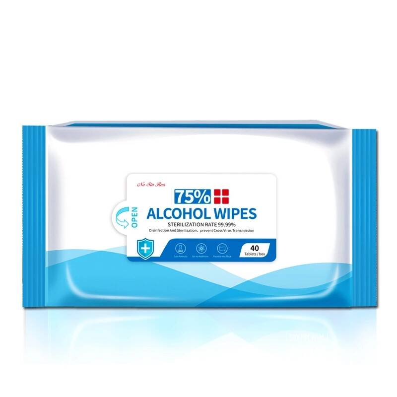 40 Sheets/Pack 75% Alcohol Wipes (Per 5 verpakt)