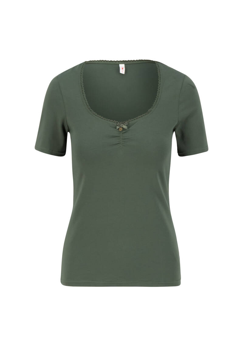 Logo balconette tee - Just me in thyme