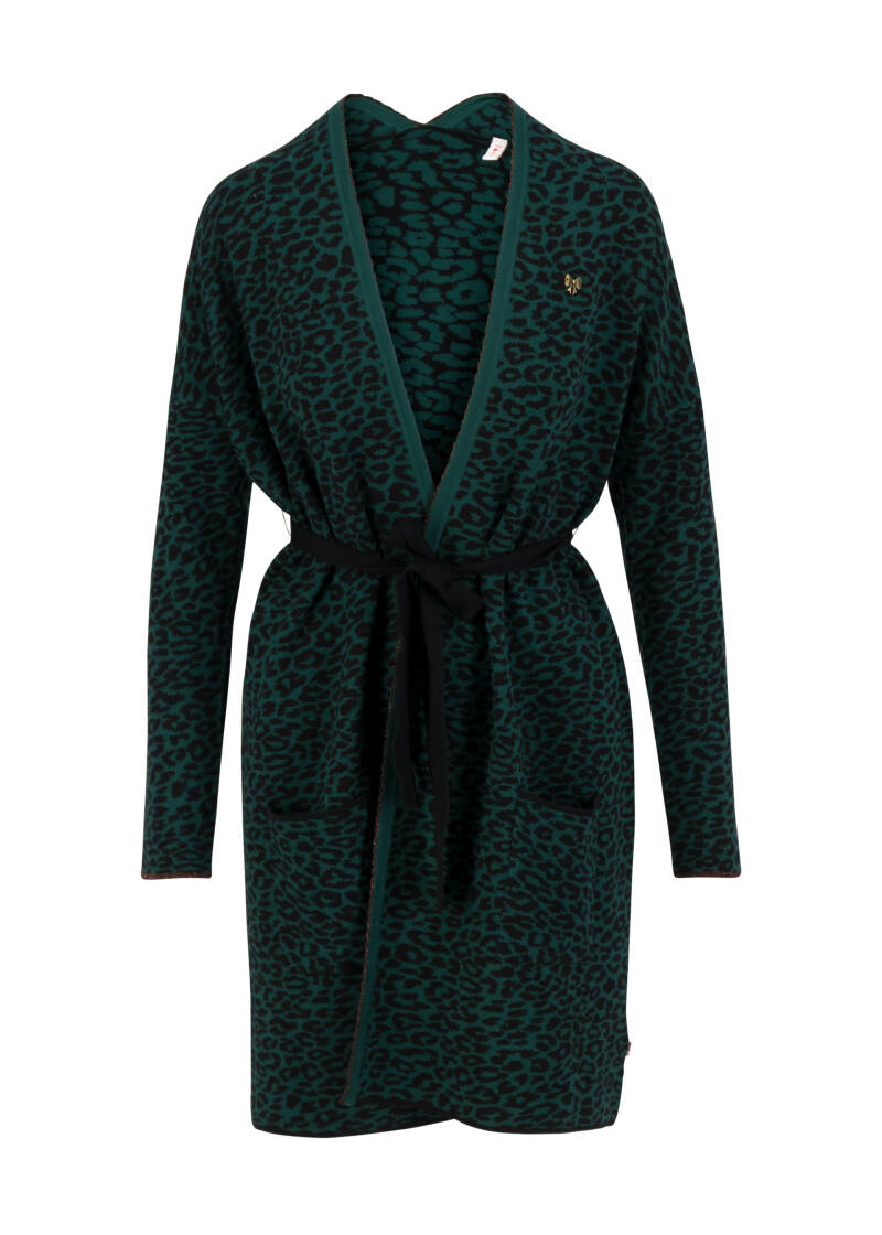 Rendesvouz with myself coat - Teal leo